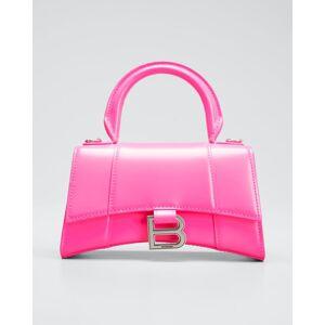 Balenciaga Hour XS Shiny Calf Top-Handle Bag  - FLUO PINK - FLUO PINK