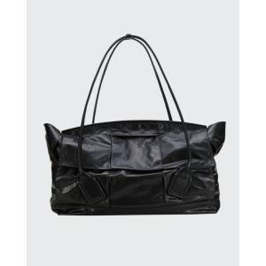 Bottega Veneta Large Arco Intrecciato Top Handle Tote Bag  - BLACK - BLACK