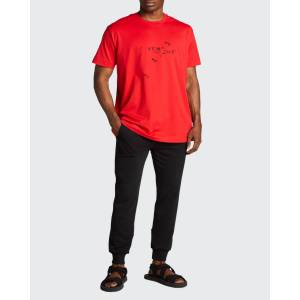 Givenchy Men's Trompe L'oeil Ring Oversized T-Shirt  - RED - RED - Size: Extra Large