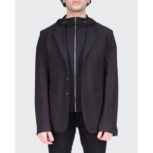 Givenchy Men's 2-in-1 Sport Jacket with Hooded Bib  - BLACK - BLACK - Size: 56R EU (44R US)