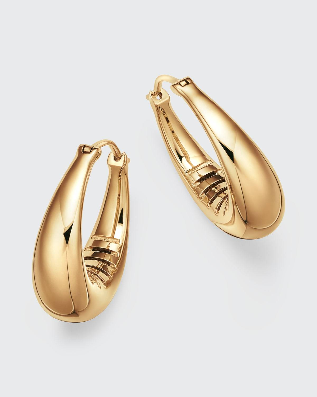 Futura Jewelry 18k Gold Oval Hoop Earrings
