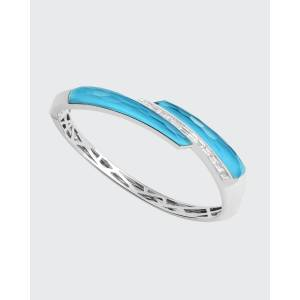 Stephen Webster CH2 Shard Bangle in 18K White Gold with Dark Turquoise