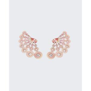 Fernando Jorge Astro Earrings in 18K Rose Gold Diamonds, Pink Opal and Morganite  - ROSE GOLD - ROSE GOLD