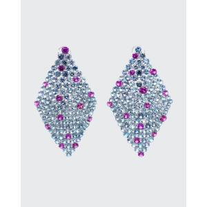 Bayco Round Gray Spinels and Rhodolite Garnet Earrings