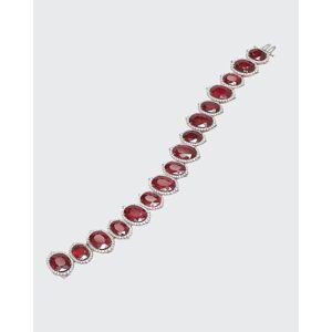 Bayco Oval Mozambique Ruby and Diamond Bracelet