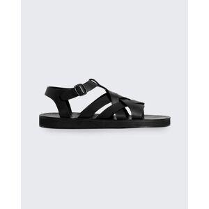 HEREU Beltra Woven Ankle-Strap Sandals  - BLACK - BLACK - Size: 8B / 38EU