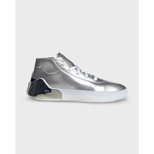 adidas by Stella McCartney Treino Mid Metallic Lace-Up Sneakers  - SILVMTSILVMTCBLAC - SILVMTSILVMTCBLAC - Size: 8B / 38EU