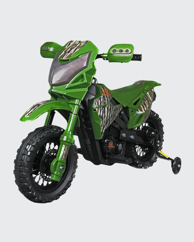 Best Ride on Cars Kid's Realtree Dirt Bike, Camo Green  - Size: unisex