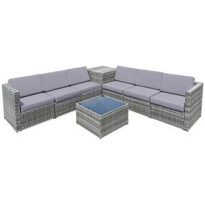 Costway 8 PCS Weaving Rattan Sofa Set with Storage Outdoor