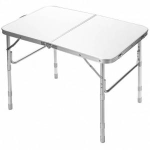 Costway Adjustable Portable Aluminum Patio Folding Camping Table for Outdoor and Indoor