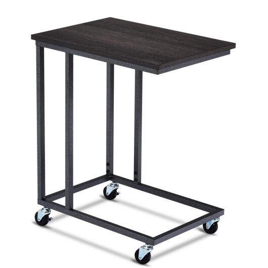 Costway Laptop Holder Sofa Multiple Side End MobileTable-Black