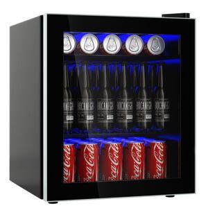 60 Can Beverage Mini Refrigerator with Glass Door
