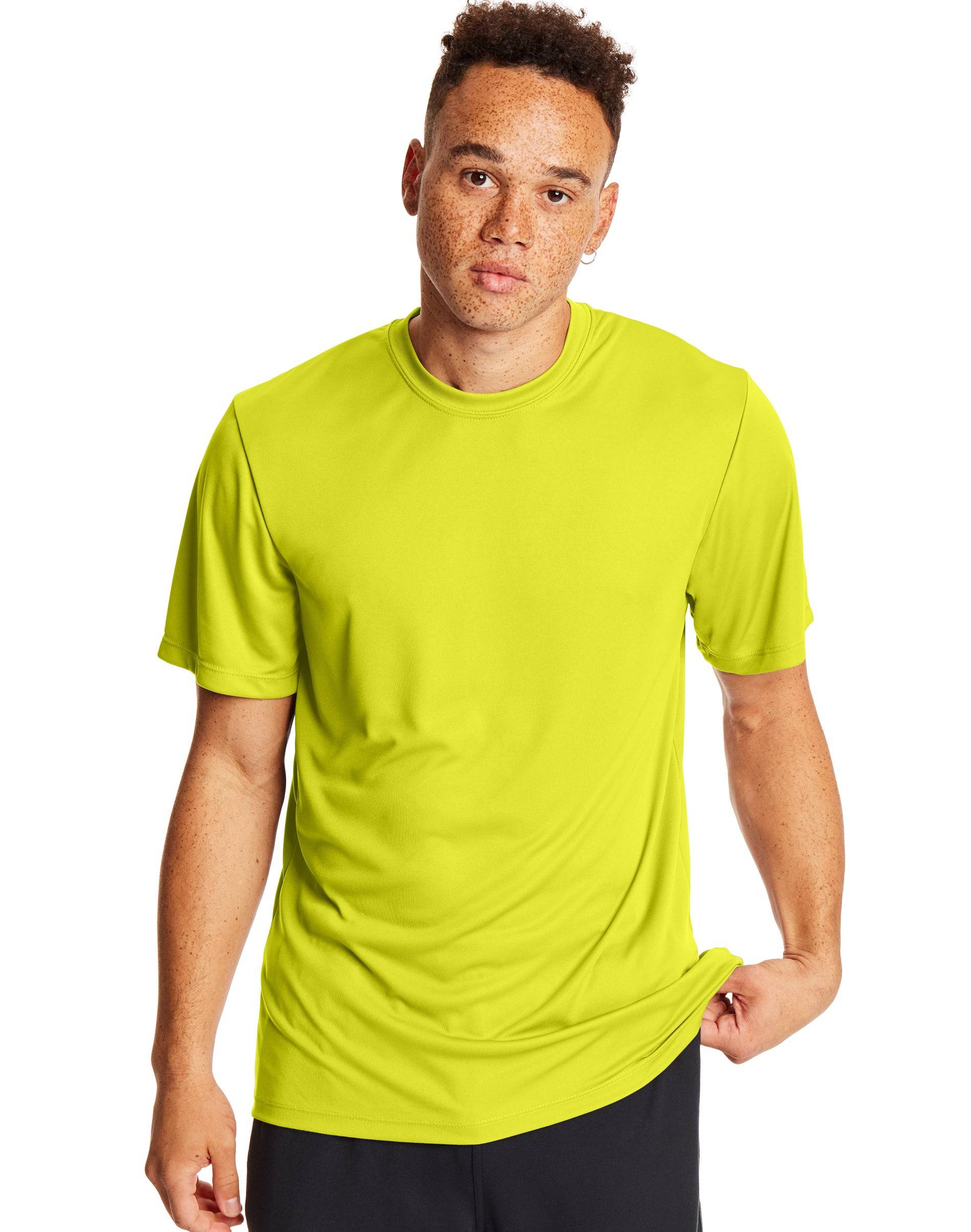 Hanes Sport Cool DRI Men's Performance Tee 2-Pack Safety Green M