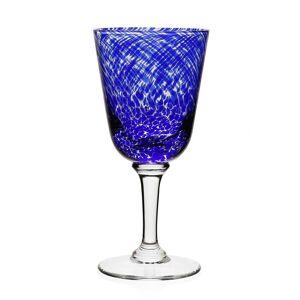 Vanessa Glass Water Goblet, Blue
