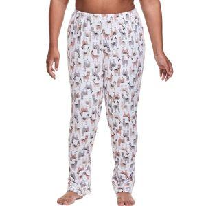 Just My Size Plus Sleep Pant Llama 1X Women's