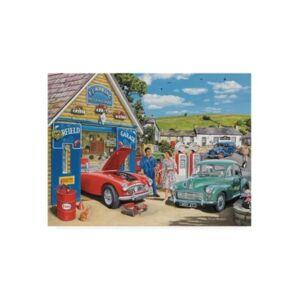 """Trademark Global Trevor Mitchell The Village Garage Canvas Art - 15.5"""" x 21"""" - Multi"""