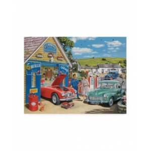 """Trademark Global Trevor Mitchell The Village Garage Canvas Art - 19.5"""" x 26"""" - Multi"""