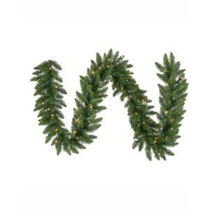 Vickerman 50' Camdon Fir Artificial Christmas Garland with 550 Warm White Led Lights - Green