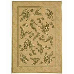 """Safavieh Courtyard Natural and Olive 6'7"""" x 9'6"""" Area Rug"""
