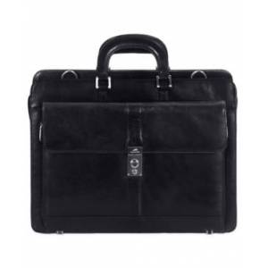 Mancini Signature Collection Top Zippered Double Compartment Laptop and Tablet Briefcase - Men - Black - Size: No Size