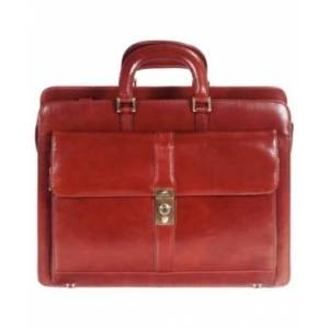 Mancini Signature Collection Top Zippered Double Compartment Laptop and Tablet Briefcase - Men - Brown - Size: No Size