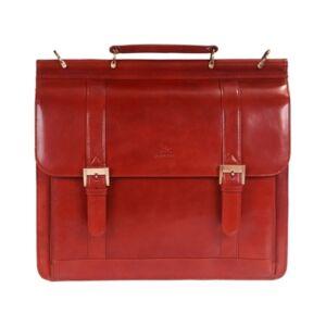 Mancini Signature Collection Double Compartment Laptop Briefcase - Men - Brown - Size: No Size