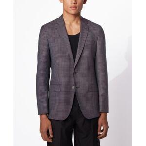 Boss Men's Hartlay2 Slim-Fit Jacket - Men - Dark Pink - Size: 46R