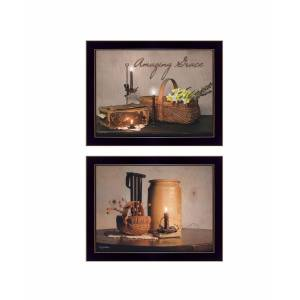 """Trendy Decor 4U Amazing Grace Collection By Susan Boyer, Printed Wall Art, Ready to hang, Black Frame, 18"""" x 14"""""""
