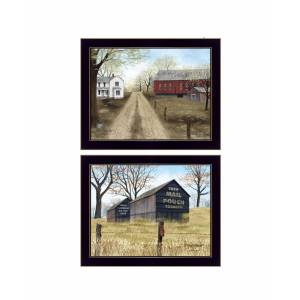 """Trendy Decor 4U Scenic Country Collection By Billy Jacobs, Printed Wall Art, Ready to hang, Black Frame, 36"""" x 14"""""""