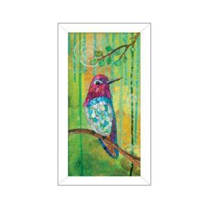 "Trendy Decor 4U Anna's Hummingbird By Lisa Morales, Printed Wall Art, Ready to hang, White Frame, 8"" x 14"" - Multi"