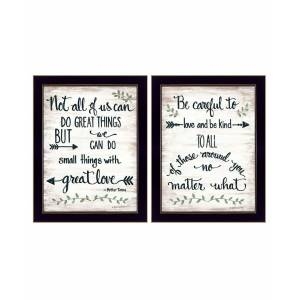 "Trendy Decor 4U Great Love 2-Piece Vignette by Annie LaPoint, Black Frame, 14"" x 18"""