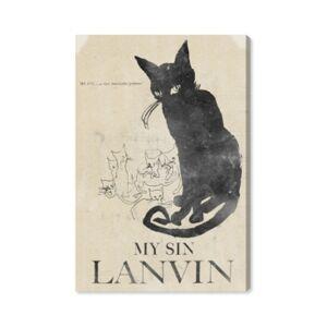 "Oliver Gal My Sin Canvas Art, 16"" x 24"" - Black"