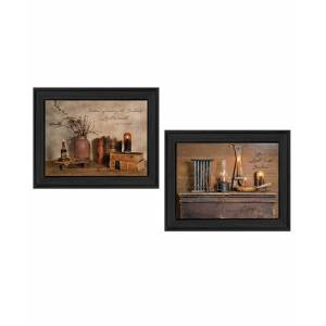"""Trendy Decor 4U Candles Collection By Billy Jacobs, Printed Wall Art, Ready to hang, Black Frame, 18"""" x 14"""""""