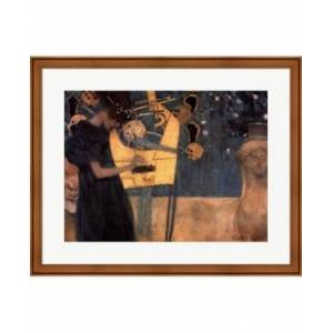 Music C.1895 By Gustav Klimt Framed Art - Multi