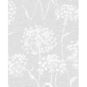 """Advantage 20.5"""" x 369"""" Garvey Light Dandelion Wallpaper - Gray - Size: NO SIZE"""