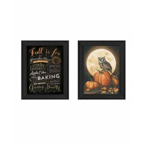 """Trendy Decor 4U Pumpkin Patch Collection By Mollie B, Printed Wall Art, Ready to hang, Black Frame, 28"""" x 18"""""""