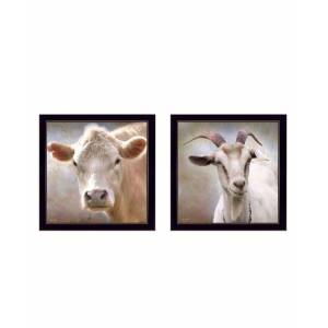 """Trendy Decor 4U Up Close on the Farm Collection By Lori Deiter, Printed Wall Art, Ready to hang, Black Frame, 14"""" x 14"""""""