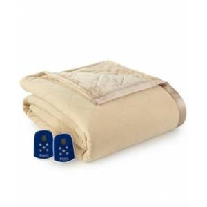 Shavel Micro Flannel to Ultra Velvet King Electric Comforter/Blanket Bedding - Camel - Size: King