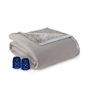 Shavel Micro Flannel to Ultra Velvet King Electric Comforter/Blanket Bedding - Smoke - Size: King