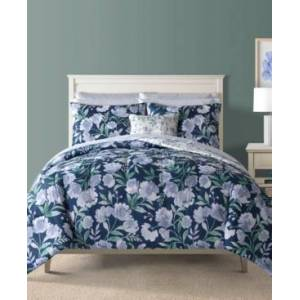 Closeout! Bella Blue 12-Pc. Reversible King Comforter Set Bedding - Blue - Size: King
