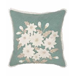 """Mod Lifestyles Sculpted Daffodils Decorative Pillow, 18"""" x 18"""""""