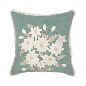 "Mod Lifestyles Sculpted Daffodils Decorative Pillow, 18"" x 18"" - Pastel Blue - Size: 18x18"