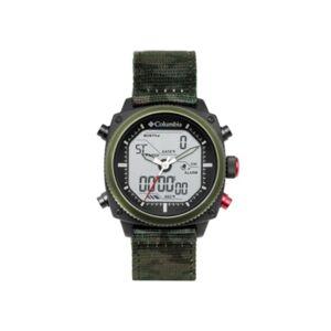 Columbia Men's Ridge Runner Green Camo Nylon Analog-Digital Watch 45mm - Men - Multi - Size: 45mm