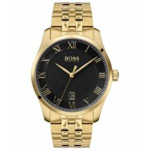 Men's Master Gold Ion-Plated Stainless Steel Bracelet Watch 41mm - Men - Gold