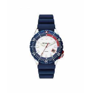 Columbia Men's Pacific Outlander Blue Silicone Strap Watch 42mm