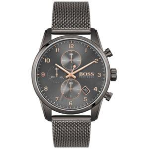 Men's Skymaster Chronograph Gray Stainless Steel Mesh Bracelet Watch 44mm - Men - Grey