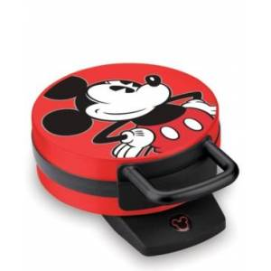Disney Mickey Mouse Round Character Waffle Maker - Red