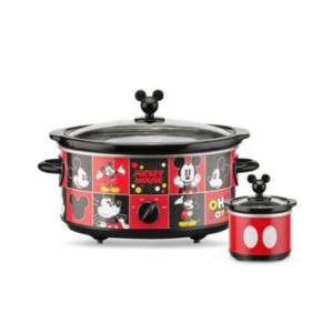 Disney Mickey Mouse 5-Quart Slow Cooker with 20 Ounce Dipper - Red