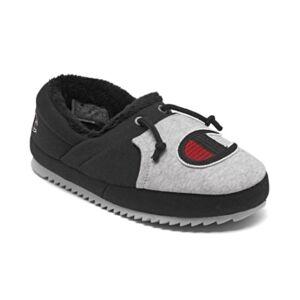 Champion Big Kids University Ii Colorblock Slippers from Finish Line - Unisex - Black, Gray - Size: 5