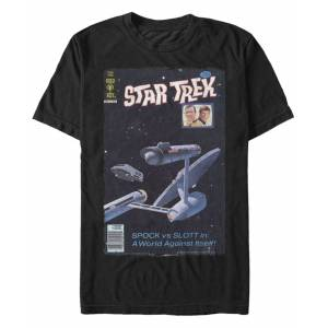 Star Trek Men's The Original Series Retro Spock Vs. Slott Comic Short Sleeve T-Shirt
